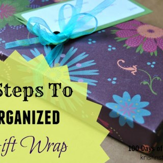 4 Steps To Organized Gift Wrap – Day 2