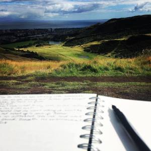 writing in holyrood park