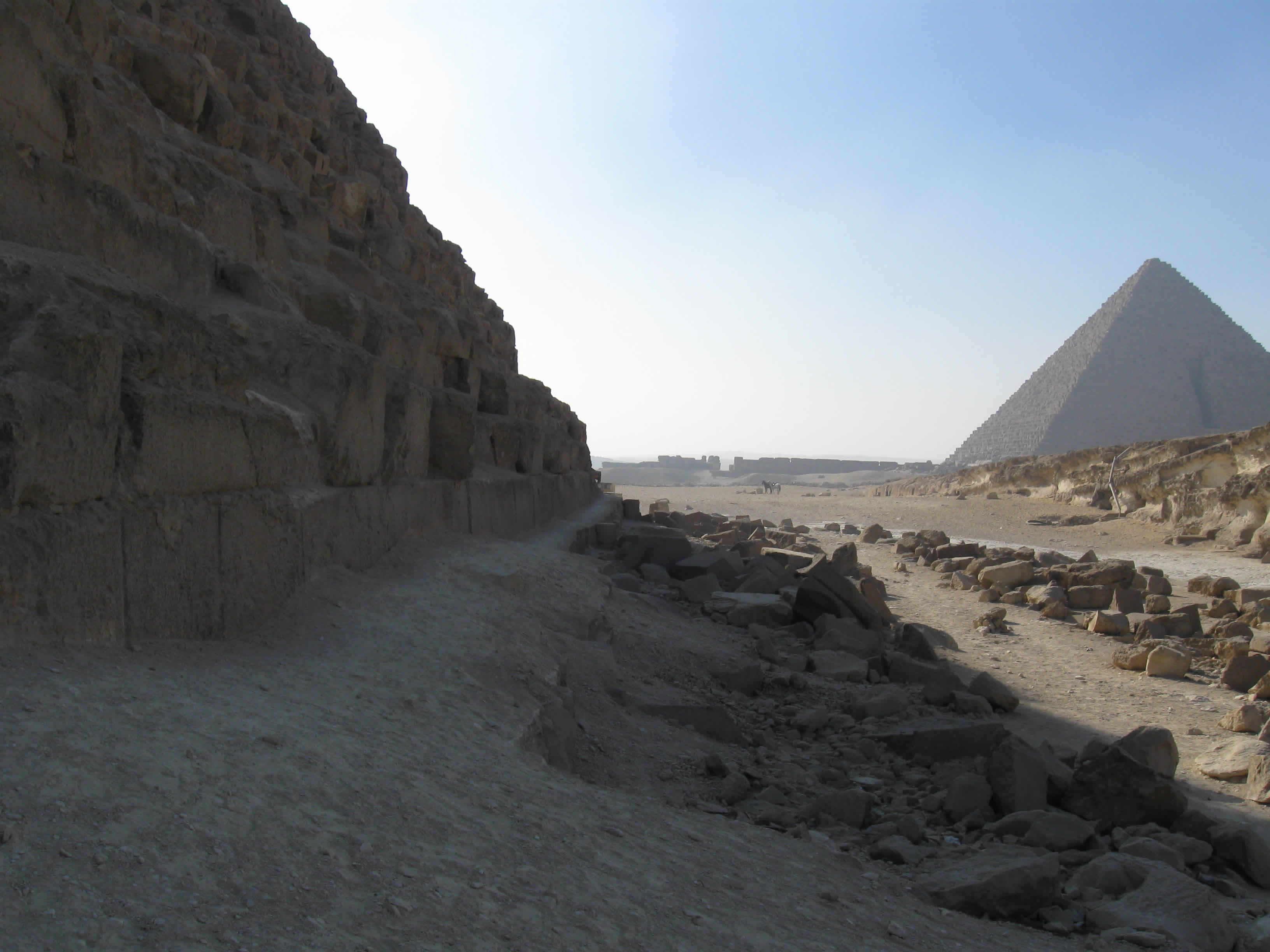 King Menkaure's Pyramid as seen from the back of King Khafre's Pyramid