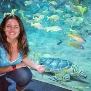 4-13-14 SeaWorld Turtle Selfie