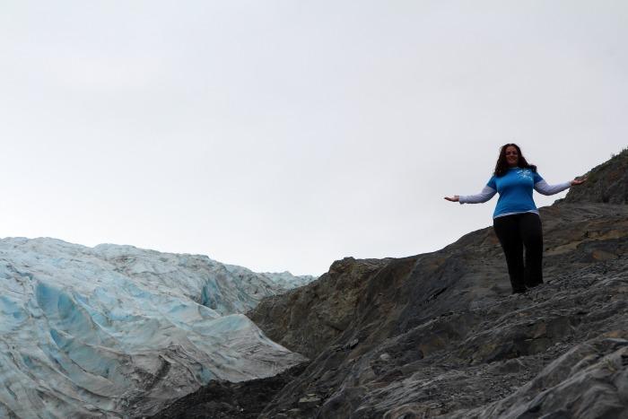 7-5-14 Kristi at Exit Glacier edited