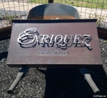 Enriquez Wines - Estate Sign