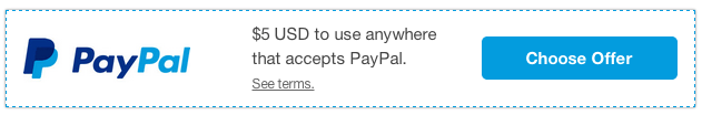 PayPal $5 Offer