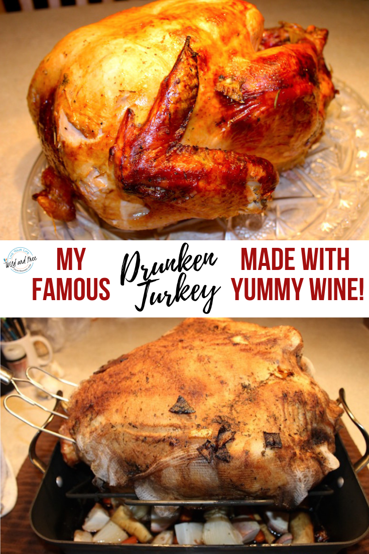My Famous Drunken Turkey Recipe Made with Wine #keto #ketothanksgiving #thanksgivingrecipes #turkey