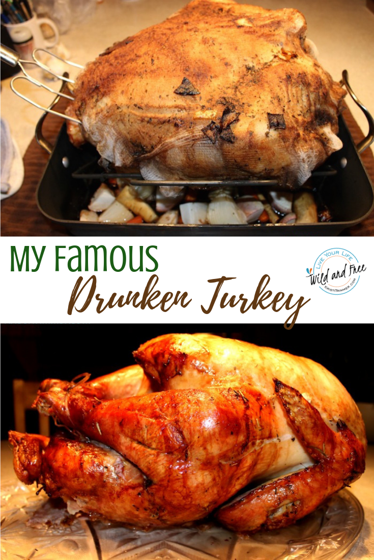 My Famous Drunken Turkey Recipe #thanksgiving #turkey #drunkturkey
