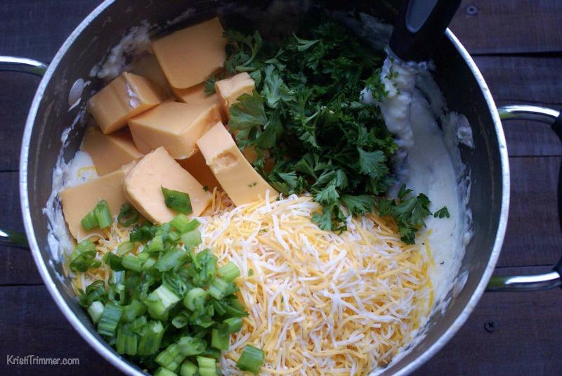 Pancetta Cheddar Mashed Potatoes Process 2