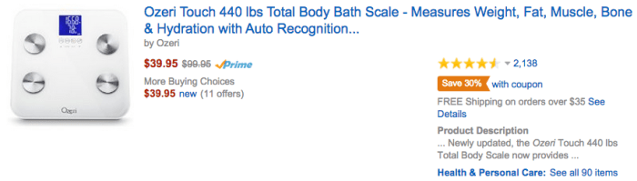 Ozeri Body Scale