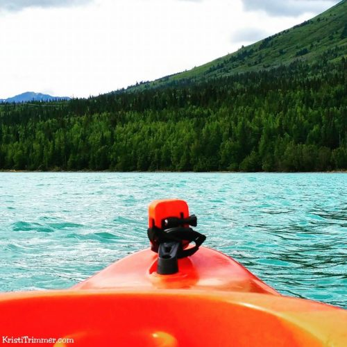 Kayaking at Kenai Lake