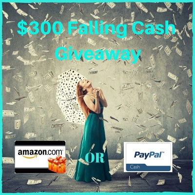 $300 Falling Cash Giveaway. Who Needs Cash?