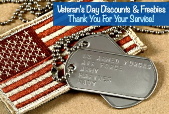 Veteran's Day Discounts & Freebies, Thank You For Your Service!