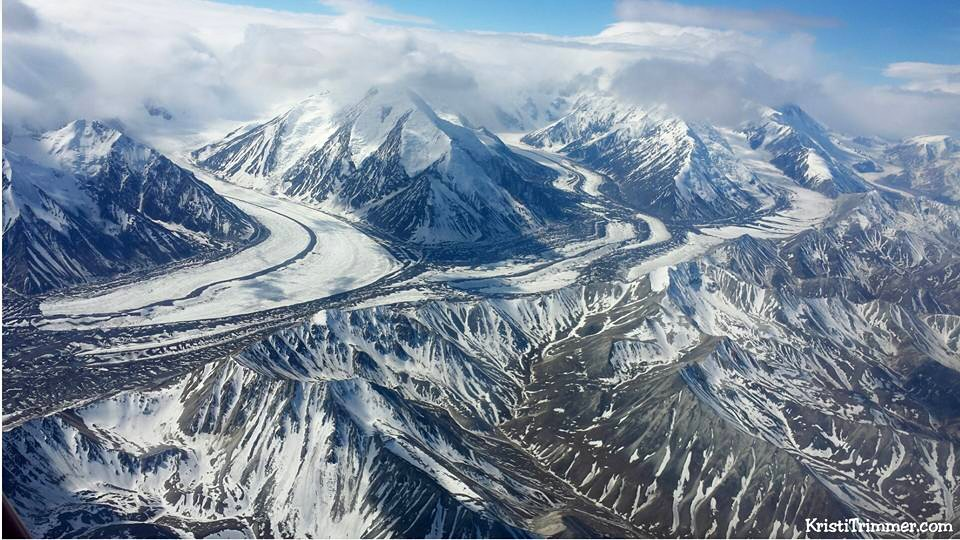 Flying over Denali National Park