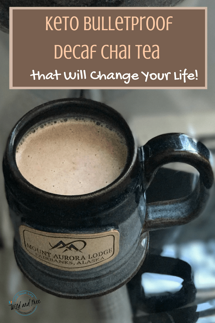 Keto Bulletproof Decaf Chai Tea Recipe So damn good... when you want a cup of coffee but can't have caffeine.