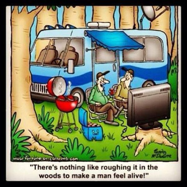 Leave the TV at home!  #campvibes #camping #camper #funny #funnymemes