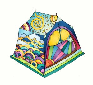 Camping Tent Sticker #camping #stickers #campingsticker