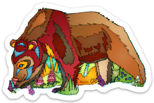 Brown Bear Sticker