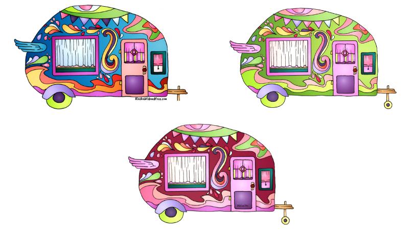 Camper Van Stickers