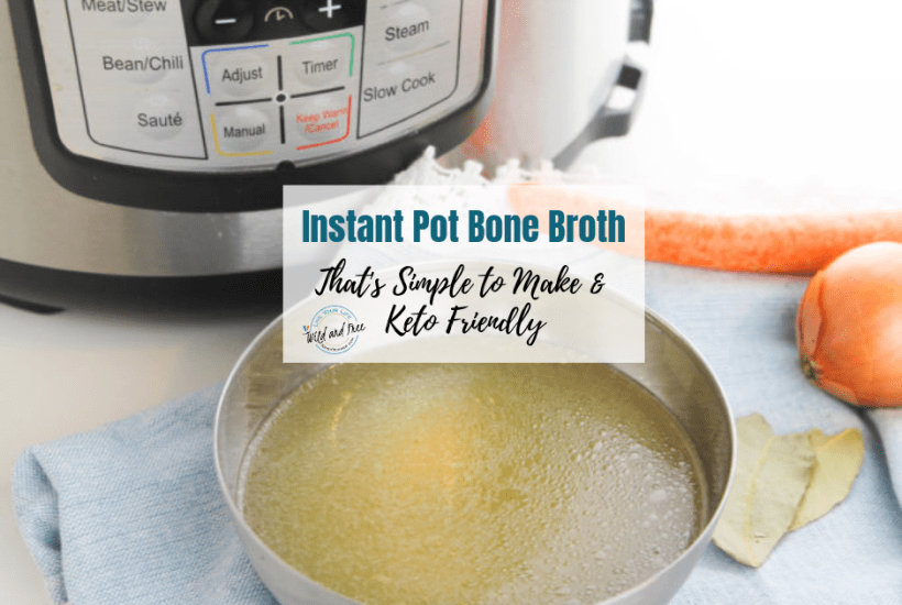 Instant Pot Bone Broth that's simple to make and keto friendly #bonebroth #ketofriendly #instantpotrecipes