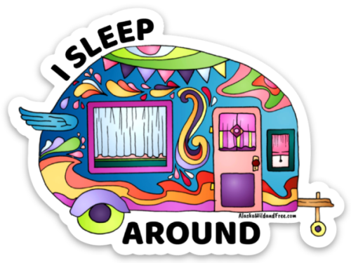 I Sleep Around Camper Sticker #camping #campingstickers #stickers