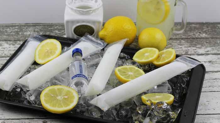 Frozen Vodka Lemonade Pops
