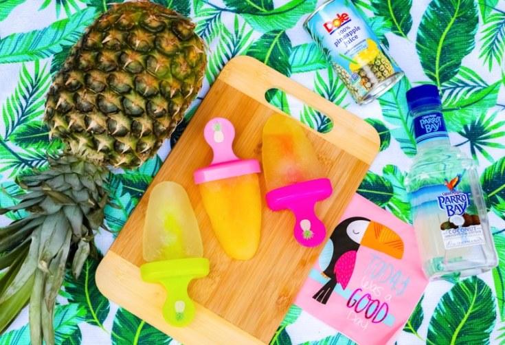 Pineapple Rum Pops