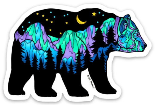 Big Dipper Brown Bear Sticker