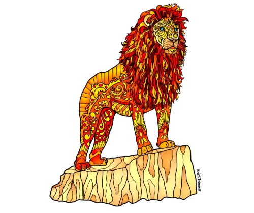 Asiatic Lion Sticker