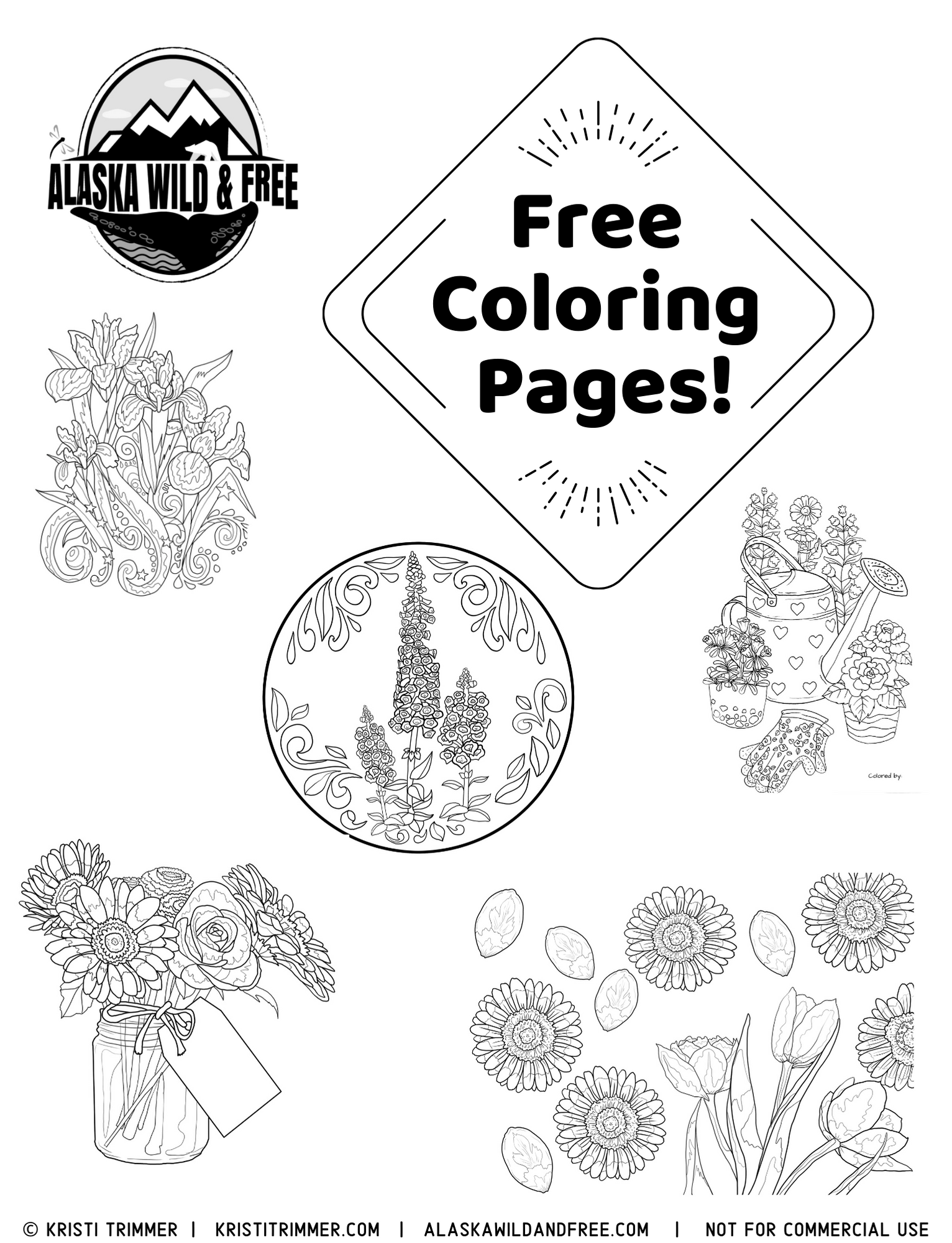 Alaska Coloring Page coloring page & book for kids. | 1999x1532