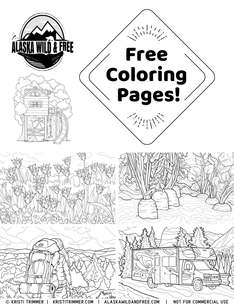 outdoor coloring pages