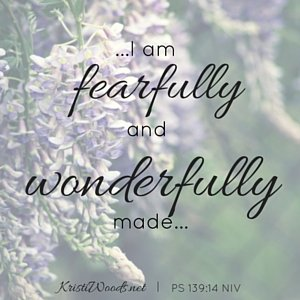 I praise you because I am fearfully and wonderfully made; your works are wonderful, I know that full well. PS 139_14 NIV