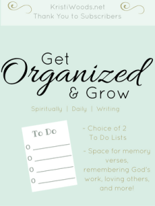 Daily Task List - for spiritual and daily growth