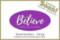 Announcement for the Just Believe Bible Study