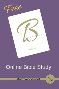White paper on a purple background to introduce the Online Believe Bible Study