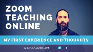 Zoom teaching online my first experience and thoughts