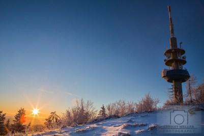 Sonnenaufgang am Sender Blauen