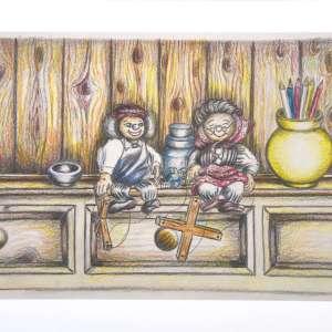 A3 Fine Art Print - Puppets Couple