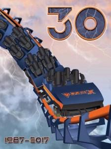 Vortex Roller Coaster 30th Anniversary Poster