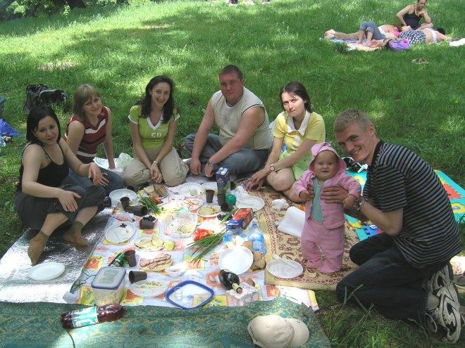 Krisina Karpenko at picnic