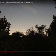 St Louis Fingernail Moon: an Attention Restoration Meditation (1 minute)
