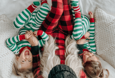 Christmas pajamas for the whole family to wear all month long.