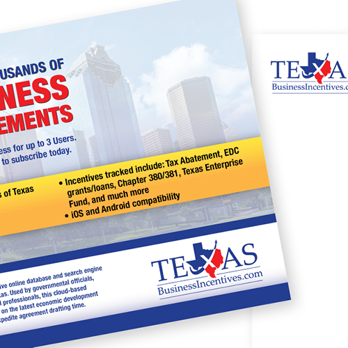 Texas Business Incentives postcard mailer