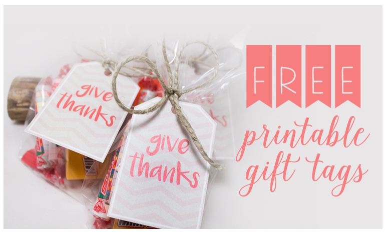 FREEBIE FRIDAY – Printable Thanksgiving gift tags