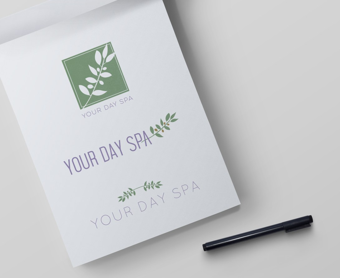 Your Day Spa initial logo concepts
