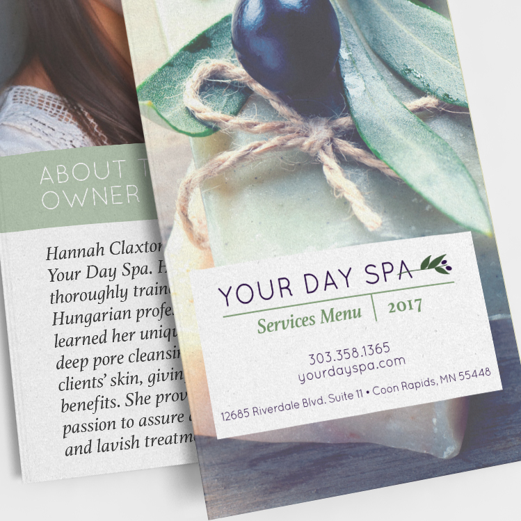 Your Day Spa Price List Brochure