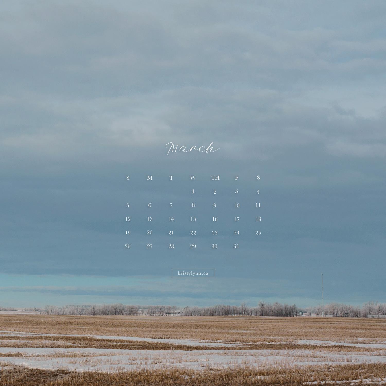 Kristy-Lynn Photography - March iPhone Calendar