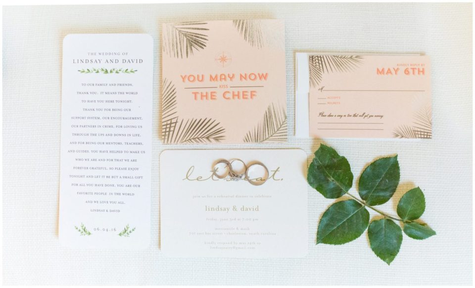 Wedding invitation for a chef