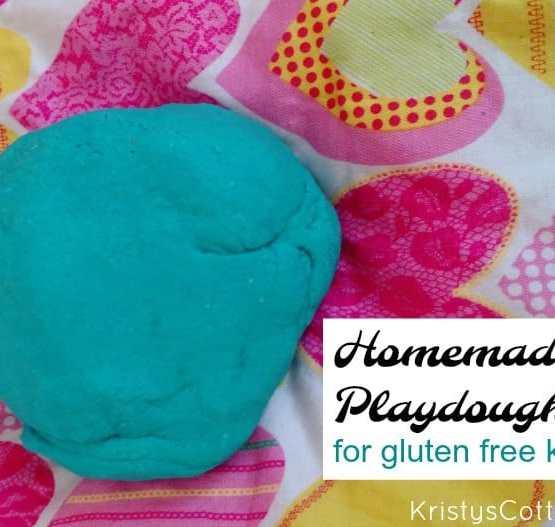 Homemade PlayDough (safe for gluten-ree kids) Kristy's Cottage blog