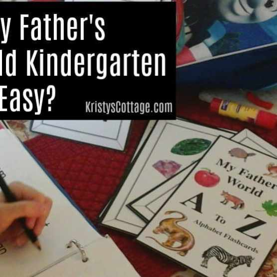 Is My Father's World Kindergarten Too Easy? | Kristy's Cottage blog
