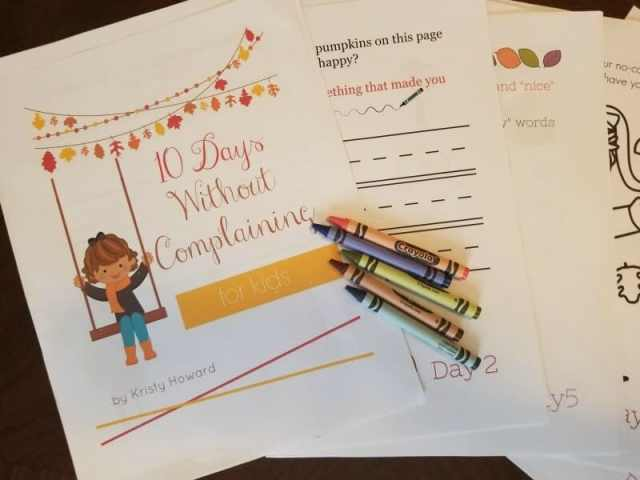 10 Days Without Complaining for Kids