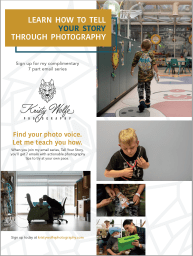 Kristy Wolfe's newsletter about how to tell your story through photography.
