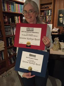 Me with the two award certificates